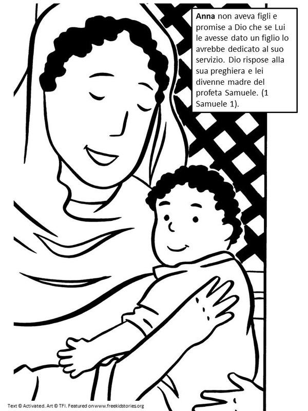 Storie bilingue video e pagine da colorare per i bambini - Foglio da colorare della bibbia ...