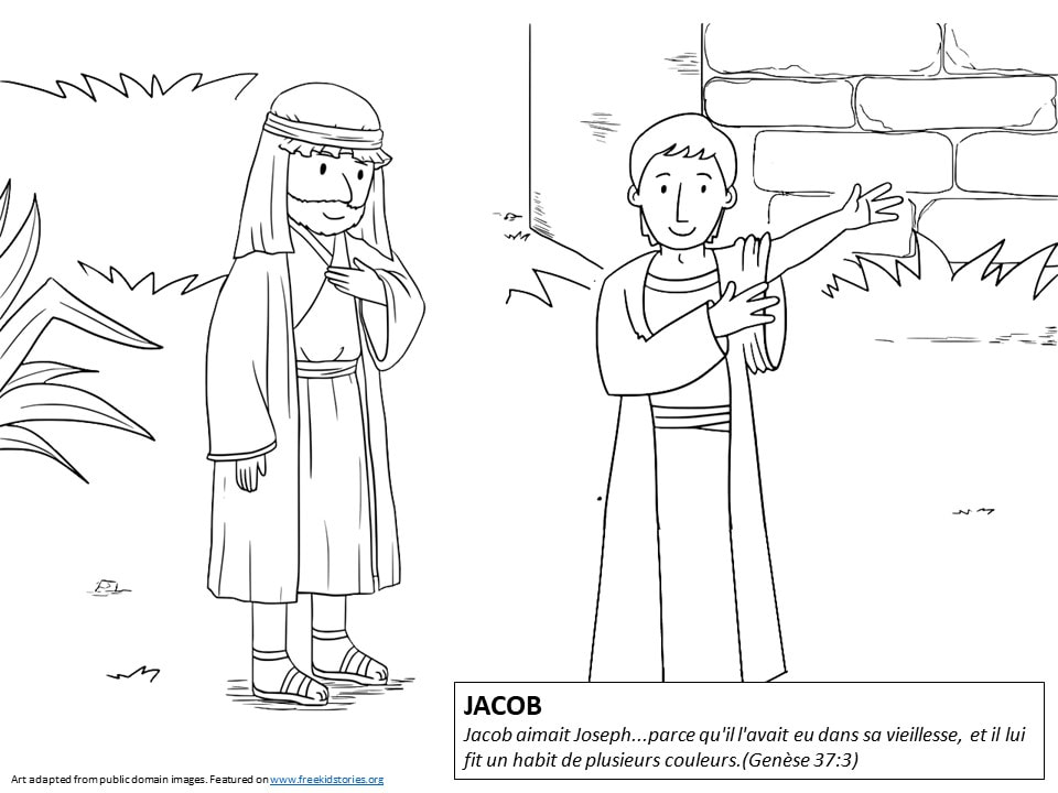 Pères de la Bible: Coloriages Jacob