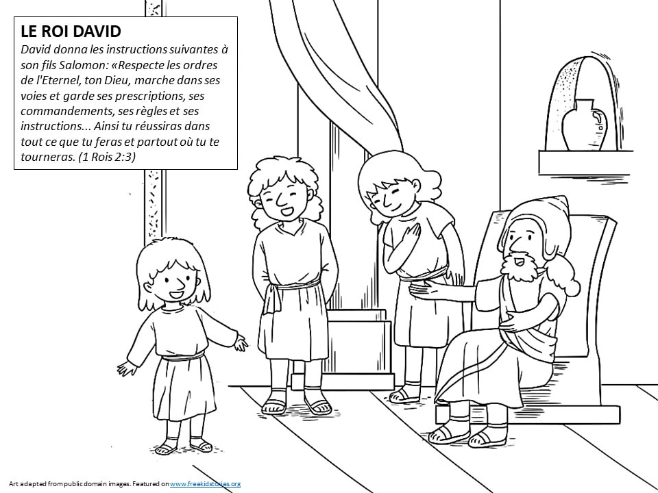 Pères de la Bible: Coloriages Roi David